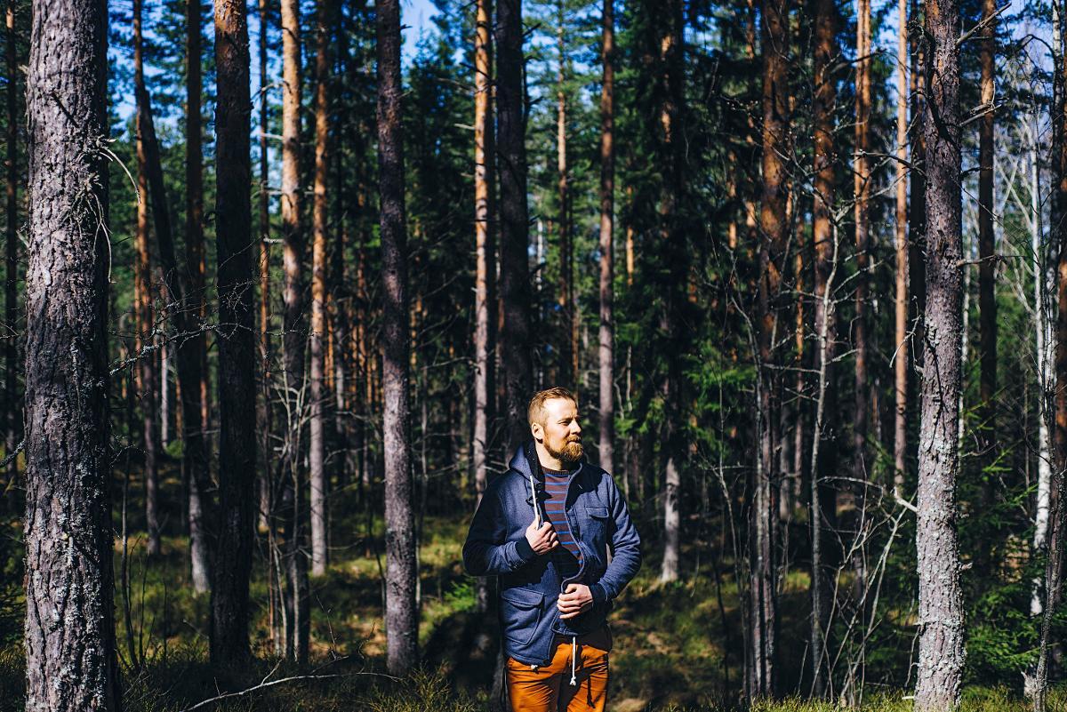 Kuva: Teemu Syrjälä saa rauhaa metsästä.