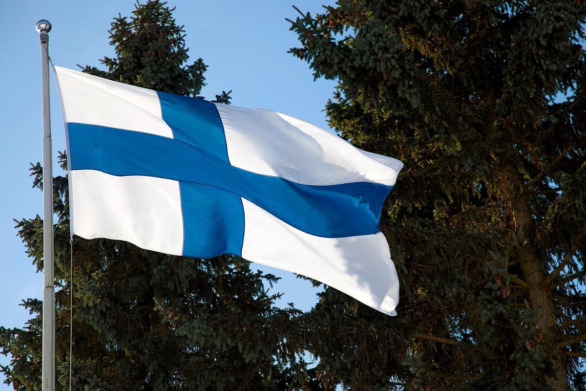 Kuva: Suomen lippu Minna Canthin päivänä 19.3.2013