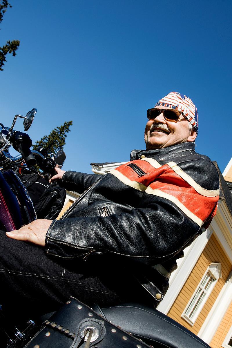 Kuva: Motoristikirkko 10.5. helatorstaina veti Ylikiimingin kirkon täyteen motoristeja Oulussa.
