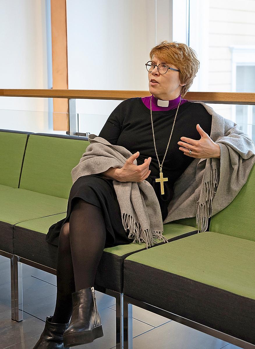 Kuva: Espoon hiippakunnan piispan Kaisamari Hintikan vierailu Oulussa 6.3.2019