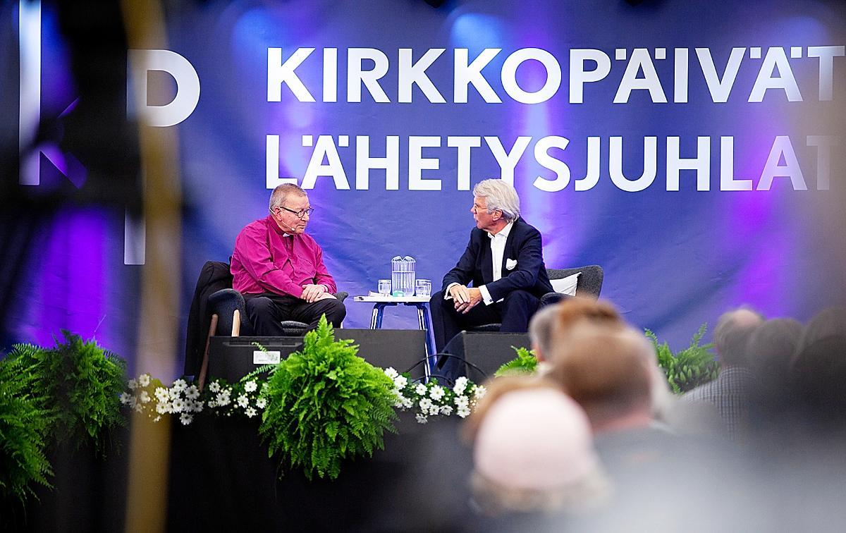 Kuva: Kirkkopäivät Eero Huovisen vieraana Björn Wahlroos