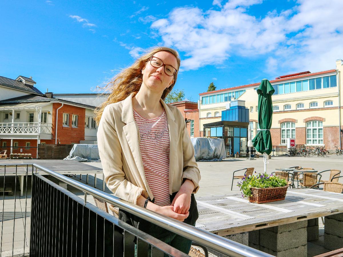 Kuva: Jenni Maalismaa tekee työtä kansainvälisen Aiesecin palveluksessa.